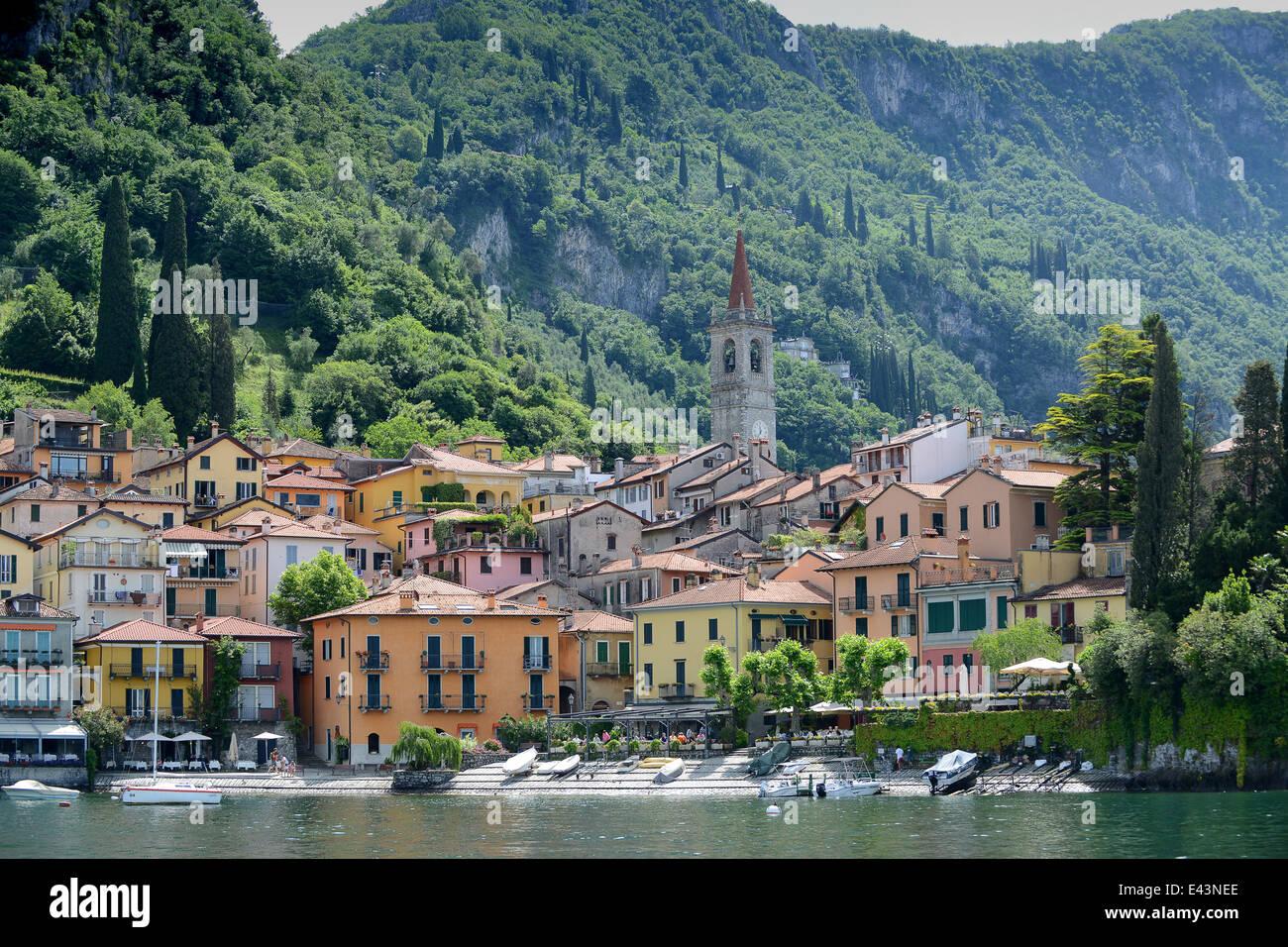 Varenna on Lake Como Italy - Stock Image