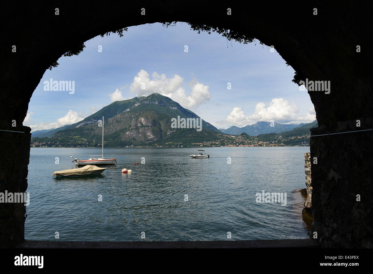 Varenna on Lake Como Italy Italian Lakes - Stock Image