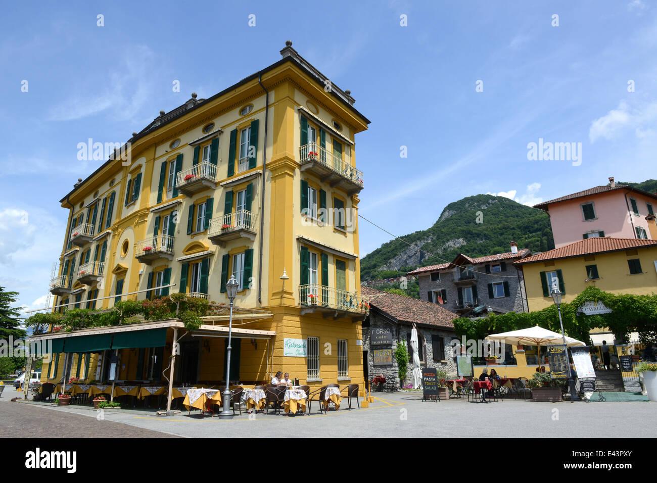 Varenna on Lake Como Italy Hotel Olivedo - Stock Image