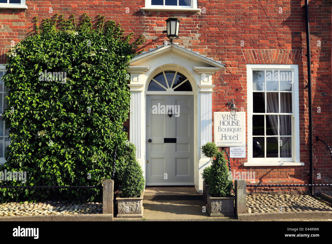 Burnham Market, Vine House Boutique Hotel, Norfolk England UK hotels - Stock Image