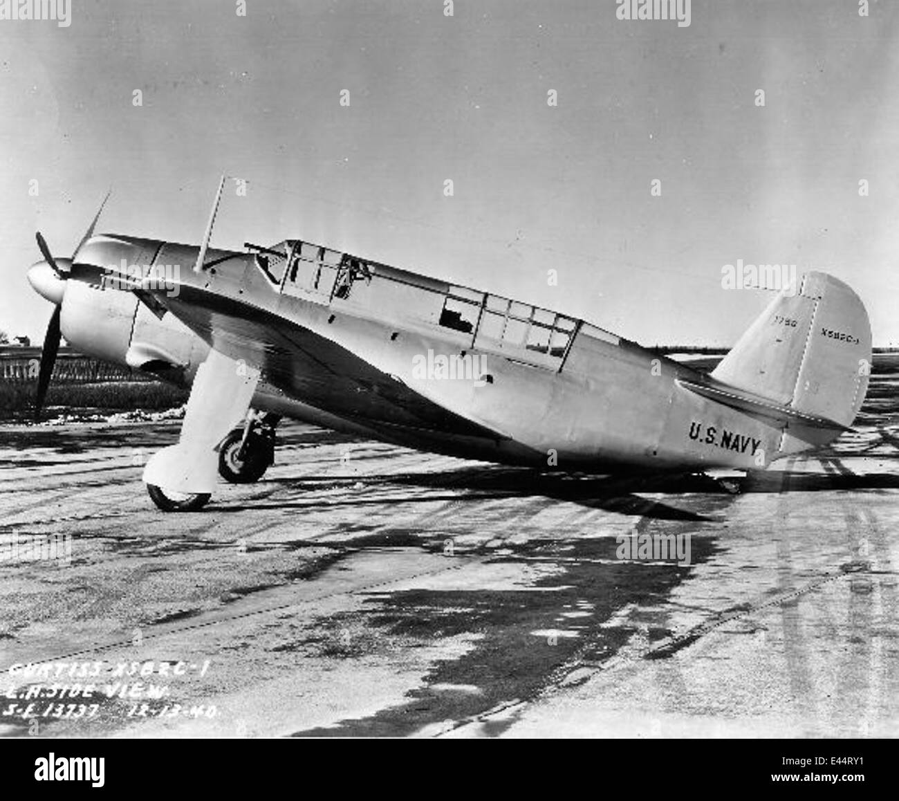 Curtiss XSB2C1 grd - Stock Image