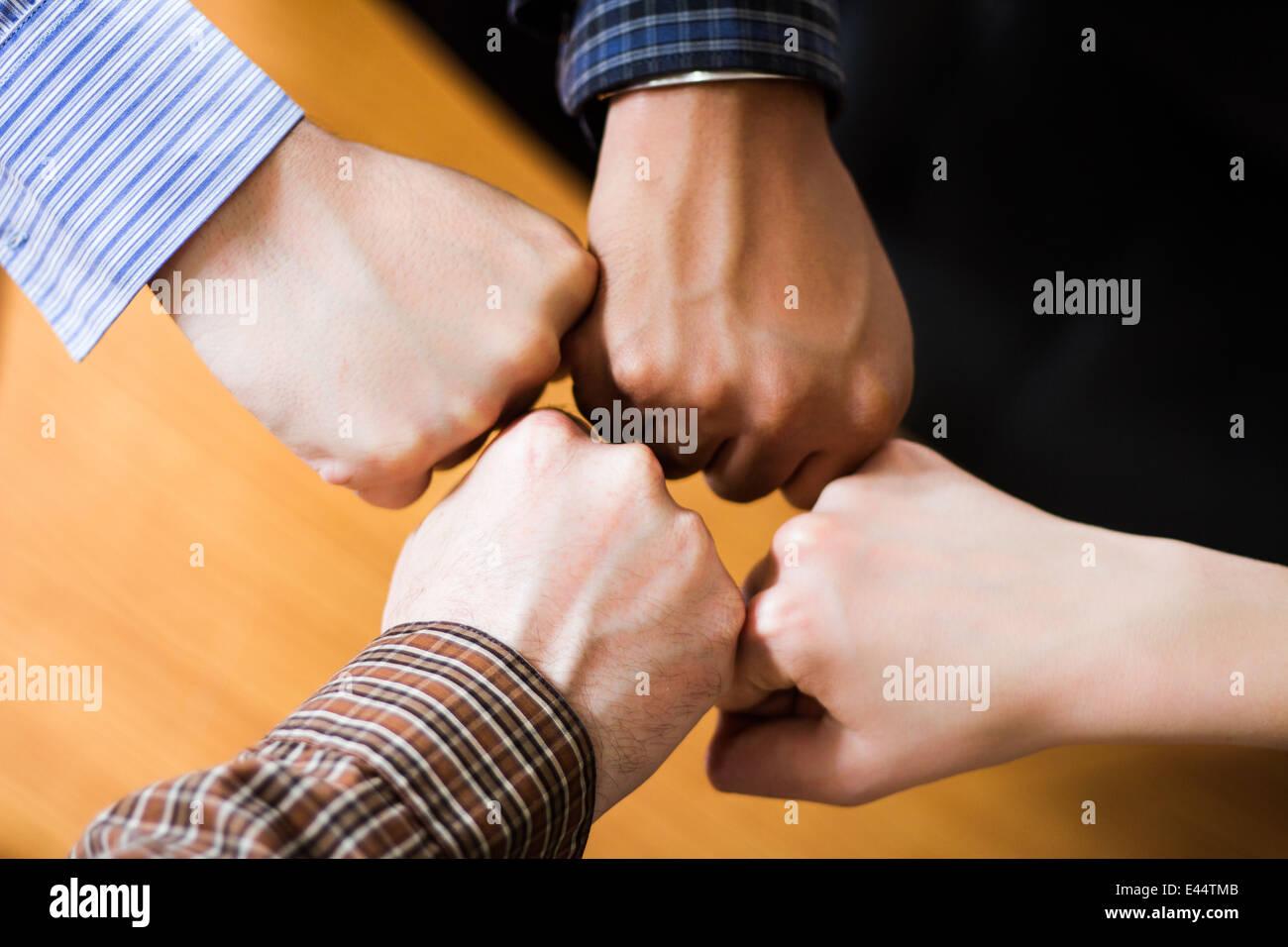 Teamwork always win the game - Stock Image