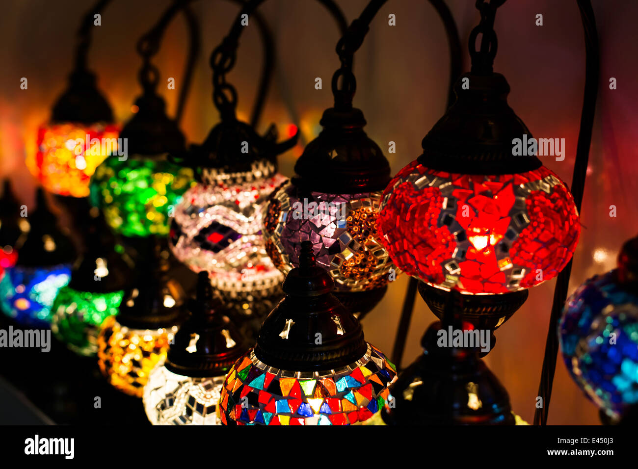 Lantern shop at the Grand Bazar - Istanbul - Stock Image