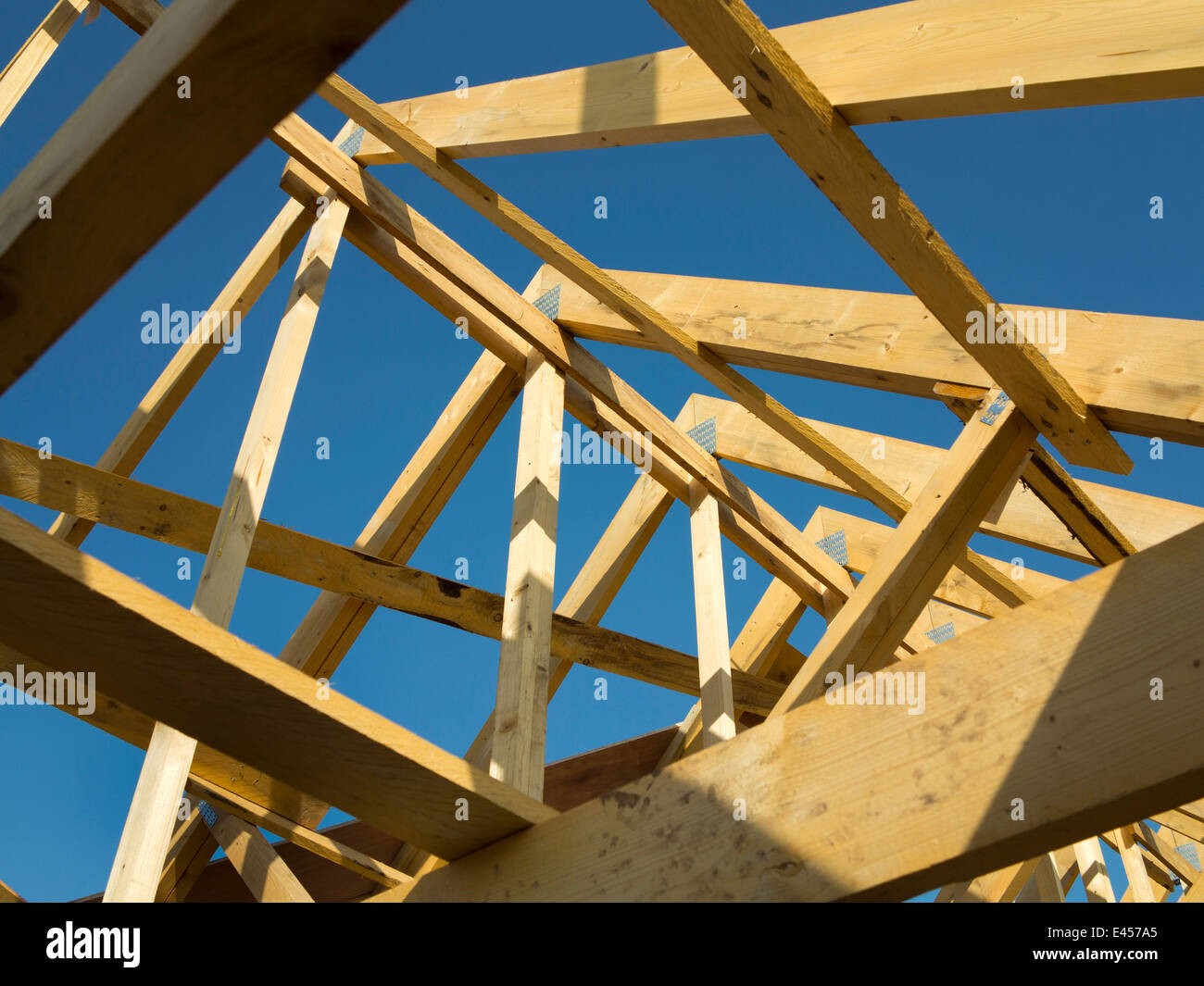 Prefabricated Roof Trusses High Resolution Stock Photography And Images Alamy