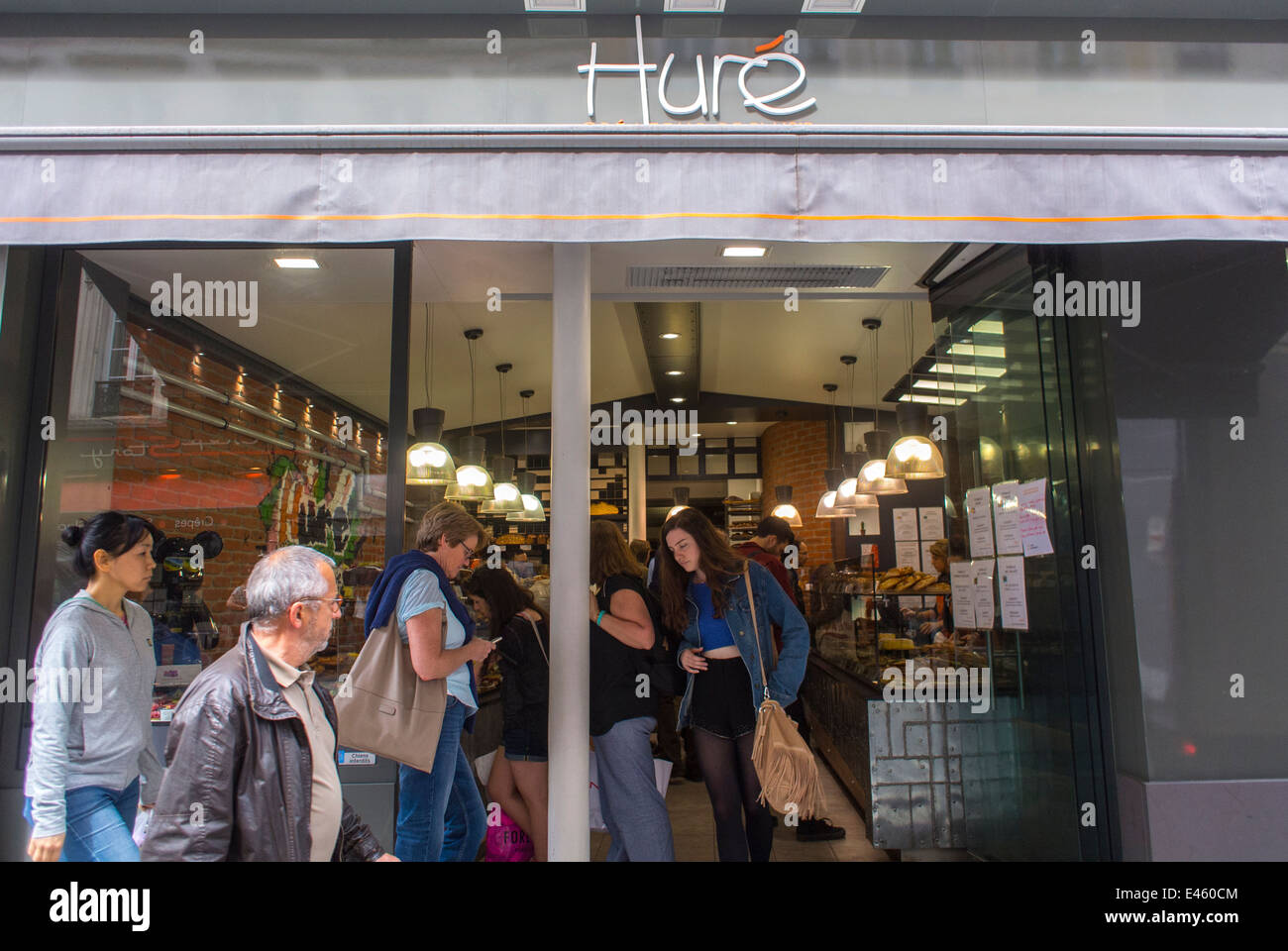 Paris, France, People Shopping in the Marais Area, Stores, French Bakery Patisserie Shop, 'Hure', Shop Front, - Stock Image