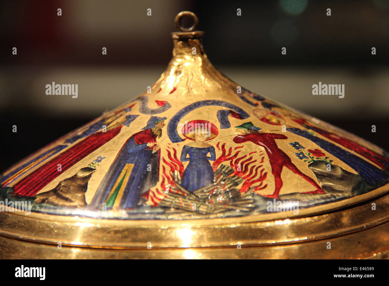 """London: """"Witch burning"""" cup at the British Museum . Photo from 09 January 2014. Stock Photo"""