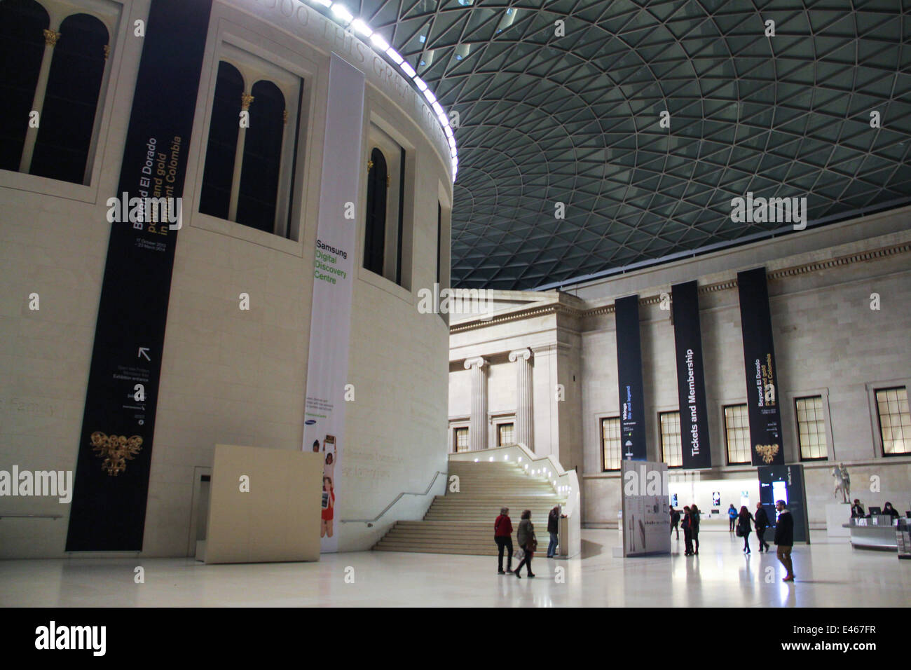 London: Centre of the British Museum . Photo from 09 January 2014. Stock Photo