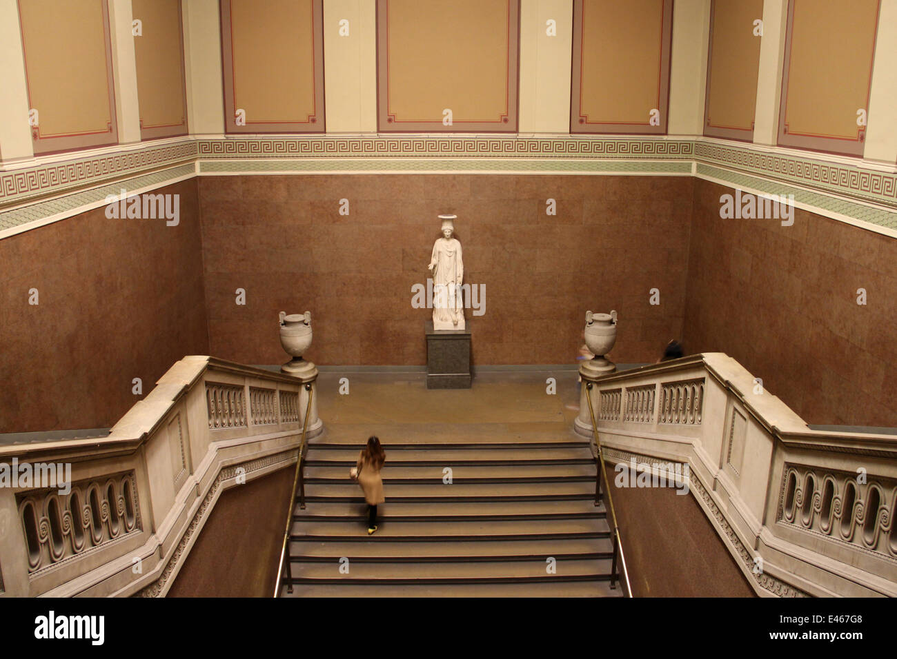 London: The South Stairs of the British Museum . Photo from 09 January 2014. Stock Photo