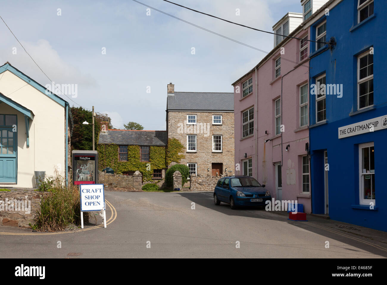 The village centre, Little Haven, Pembrokeshire - Stock Image