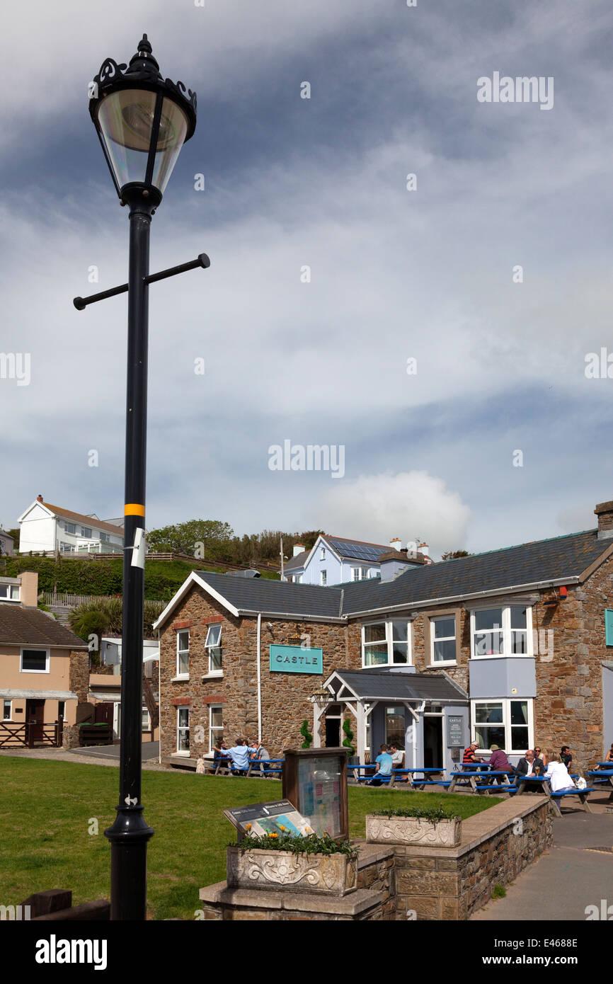 The Castle Inn, Little Haven, Pembrokeshire - Stock Image