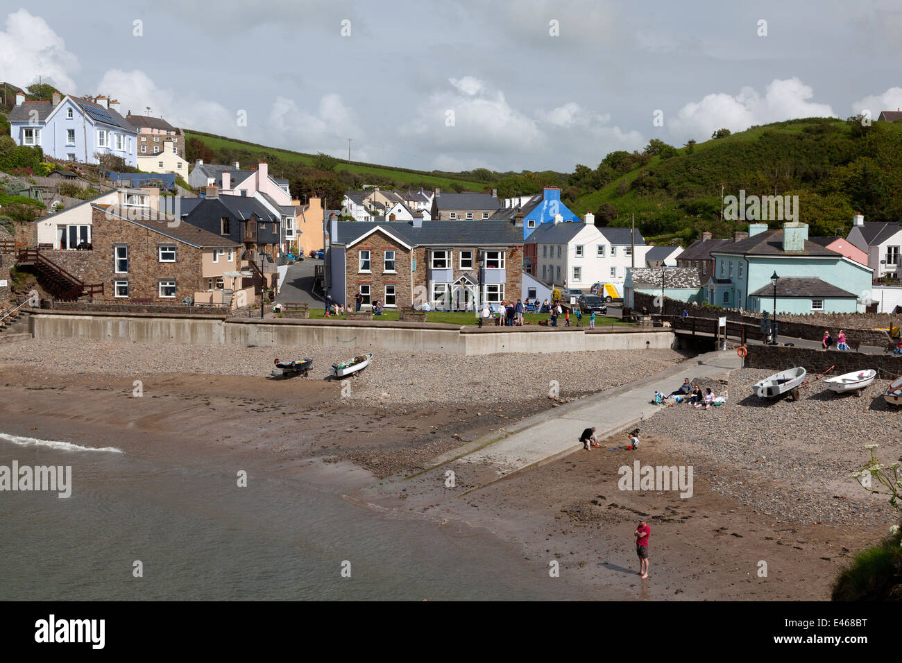 View of the harbour front, Little Haven, Pembrokeshire - Stock Image