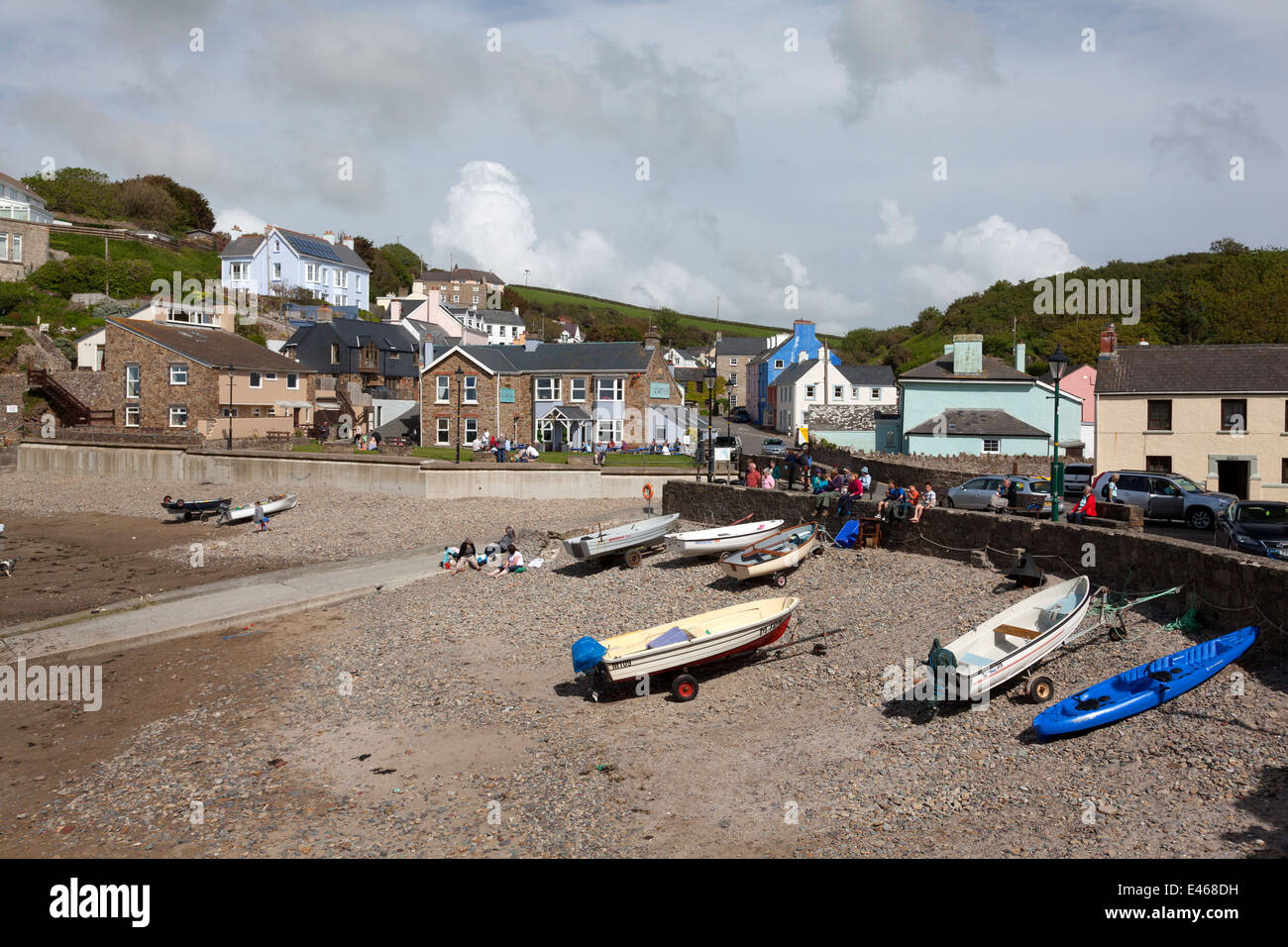 The harbour, Little Haven, Pembrokeshire - Stock Image