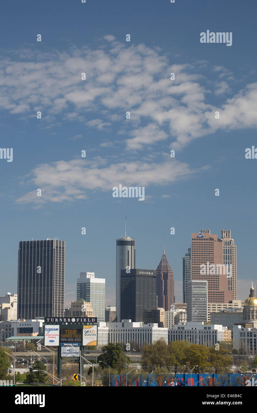 City skyline, Atlanta, Georgia, USA - Stock Image