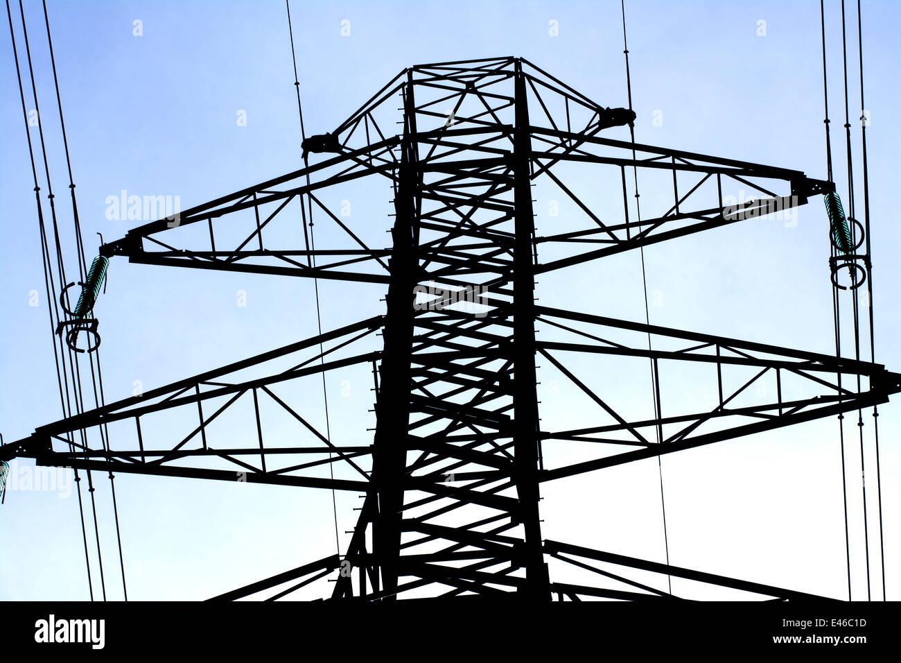 Electricity pylon, France - Stock Image