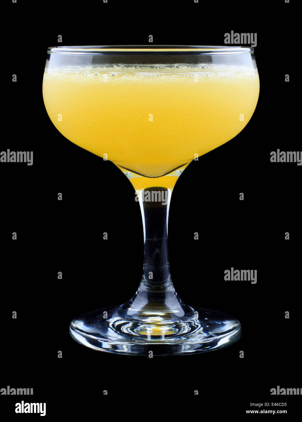 Monkey Gland cocktail, consisting of gin, orange juice, absinthe and grenadine - Stock Image