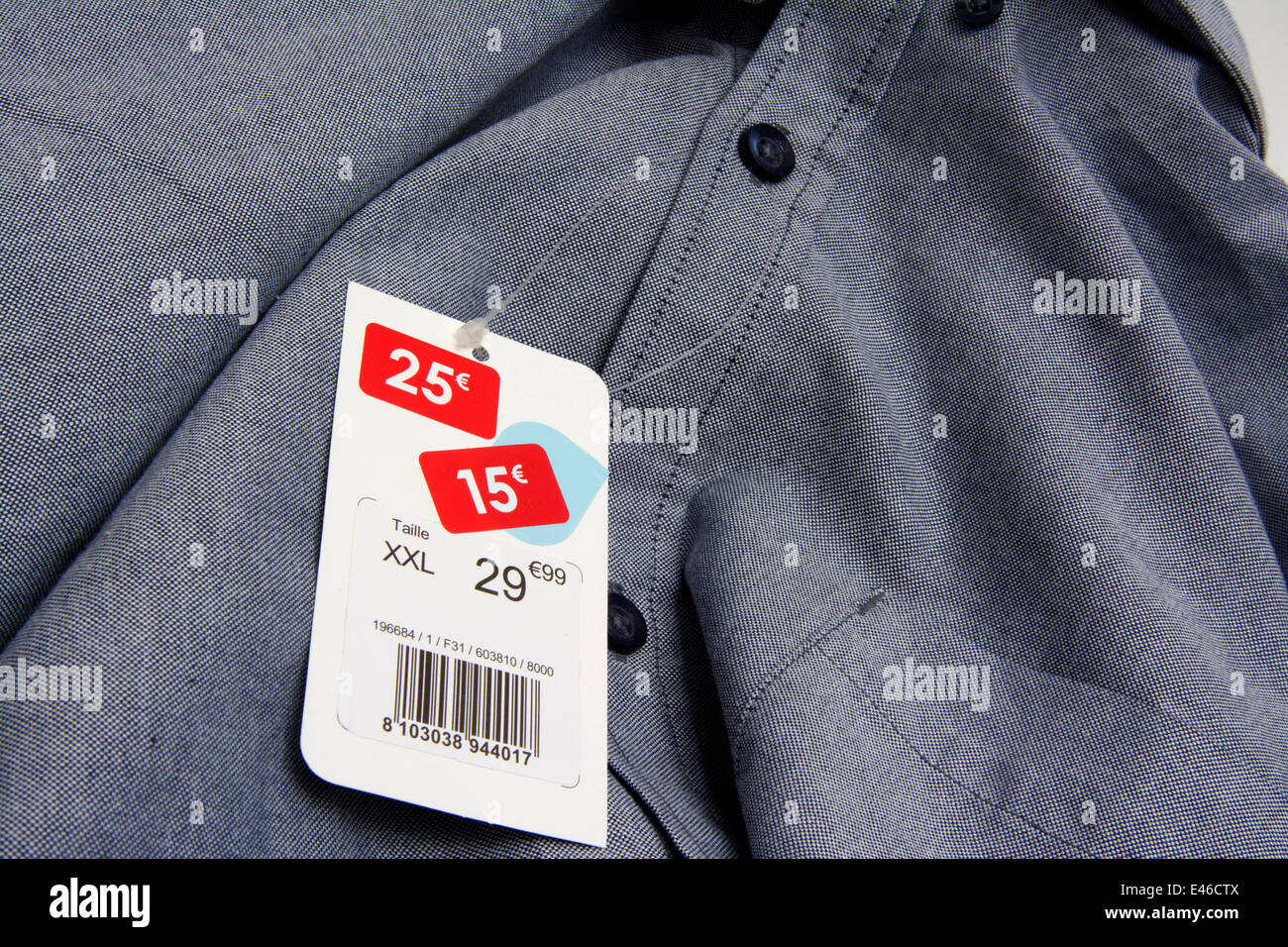 Clothing in the sales in Europe - Stock Image