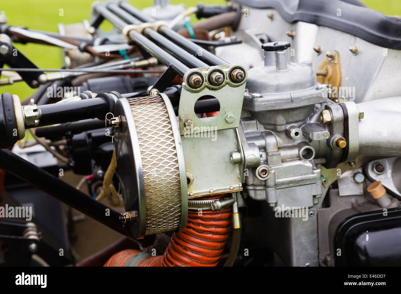Grob 109b motor glider engine compartment Stock Photo