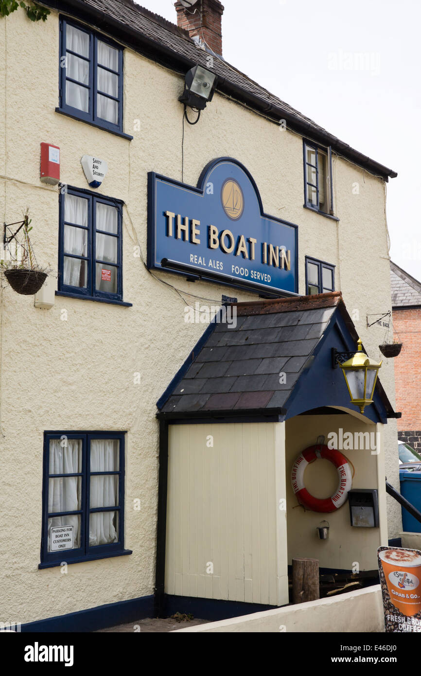 Chepstow in Monmouthshire Wales UK The Boat Inn Pub - Stock Image