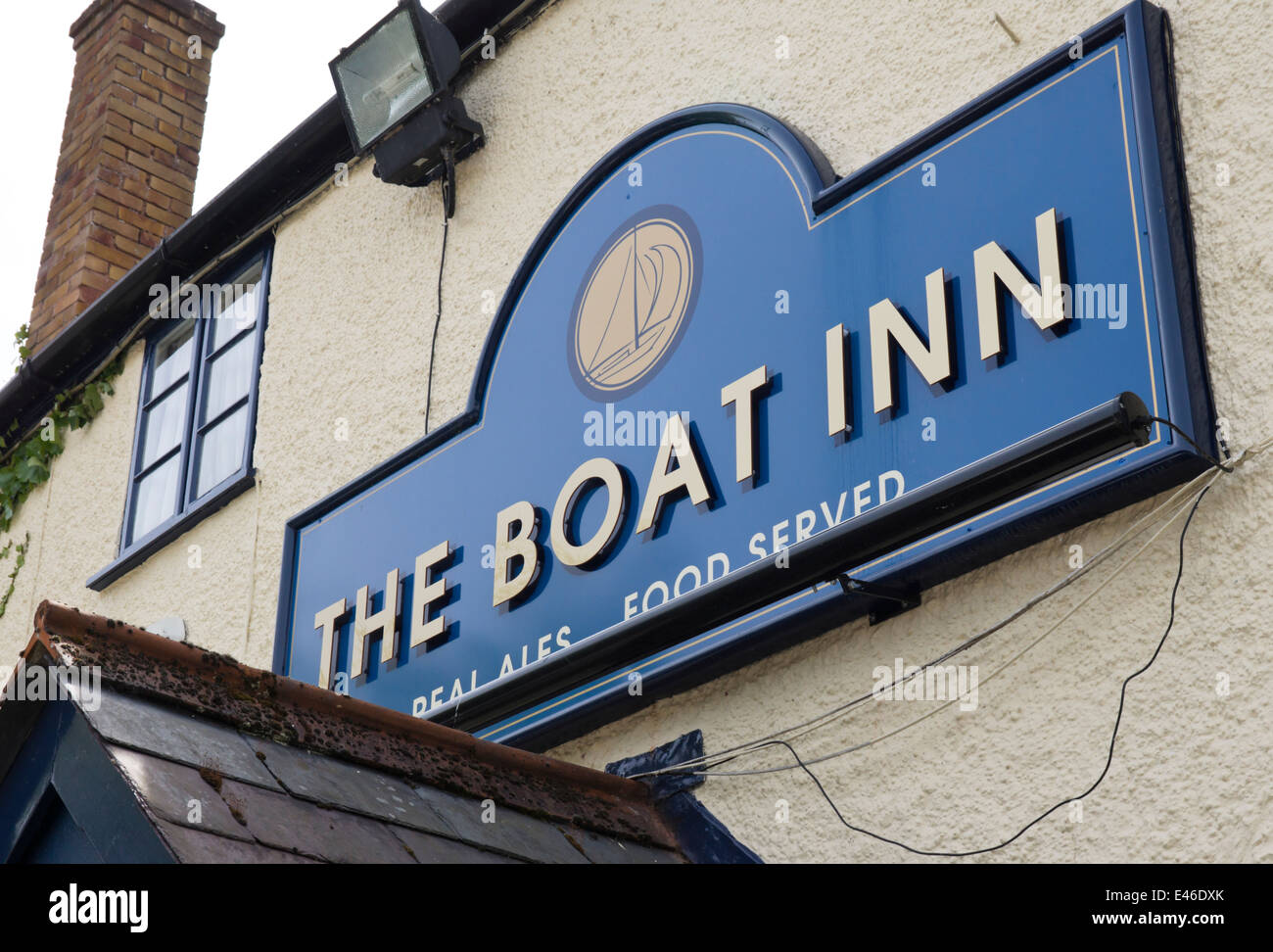 Chepstow in Monmouthshire Wales UK  The Boat Inn, the Back, Chepstow. - Stock Image