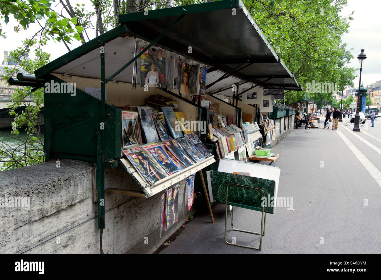 Stalls on the Left Bank of the Seine, Paris, France - Stock Image