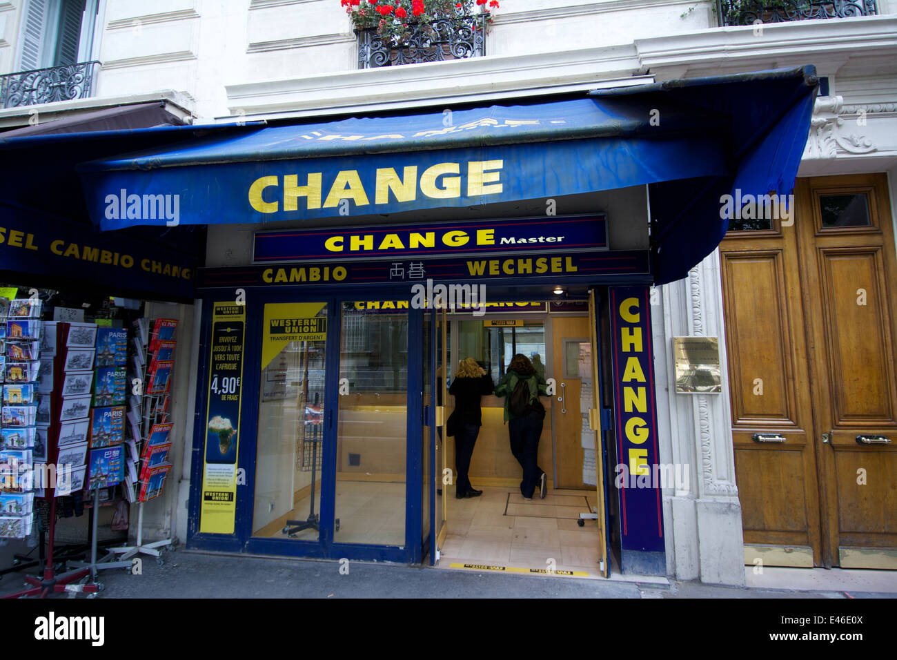 Bureau de change paris france stock photo  alamy