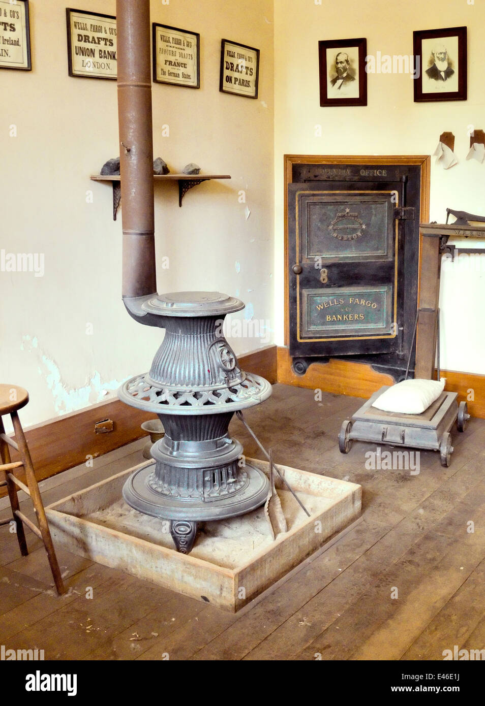 An ornate potbelly stove - Stock Image