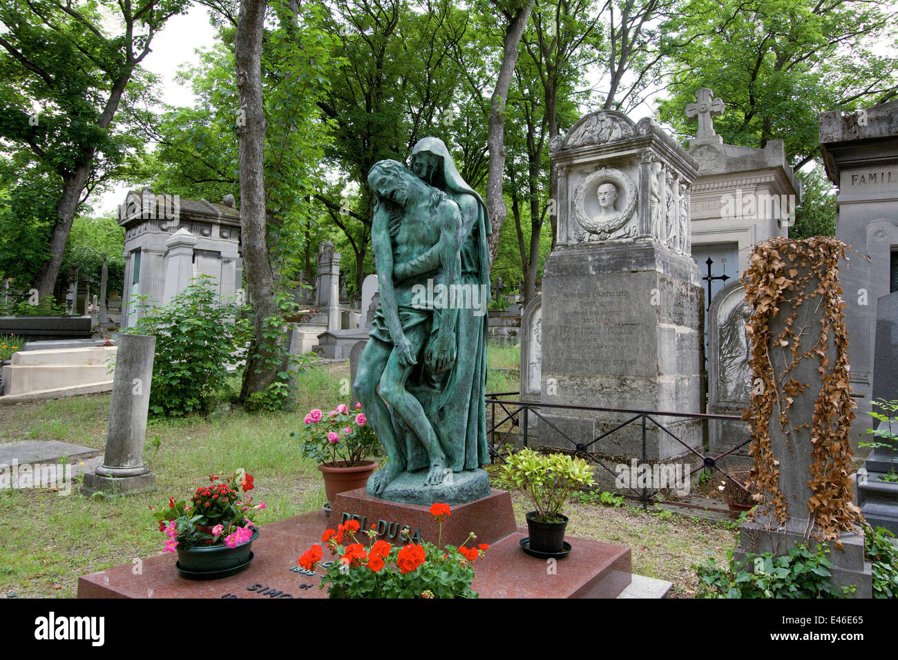 The Pere Lachaise cemetery, Paris, France, Europe - Stock Image