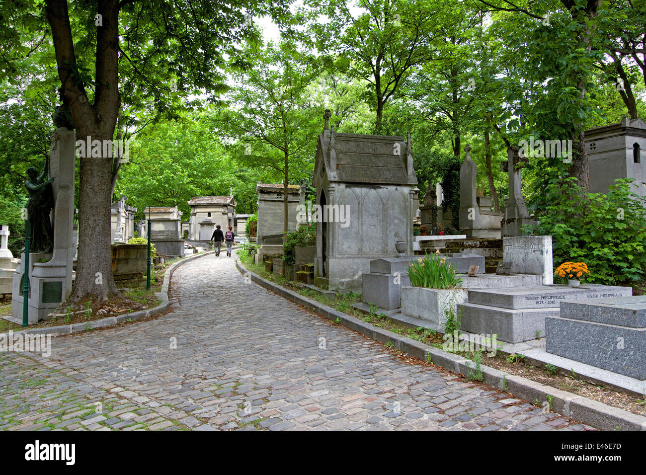 Tombs, Père Lachaise cemetery, Paris, France, Europe - Stock Image