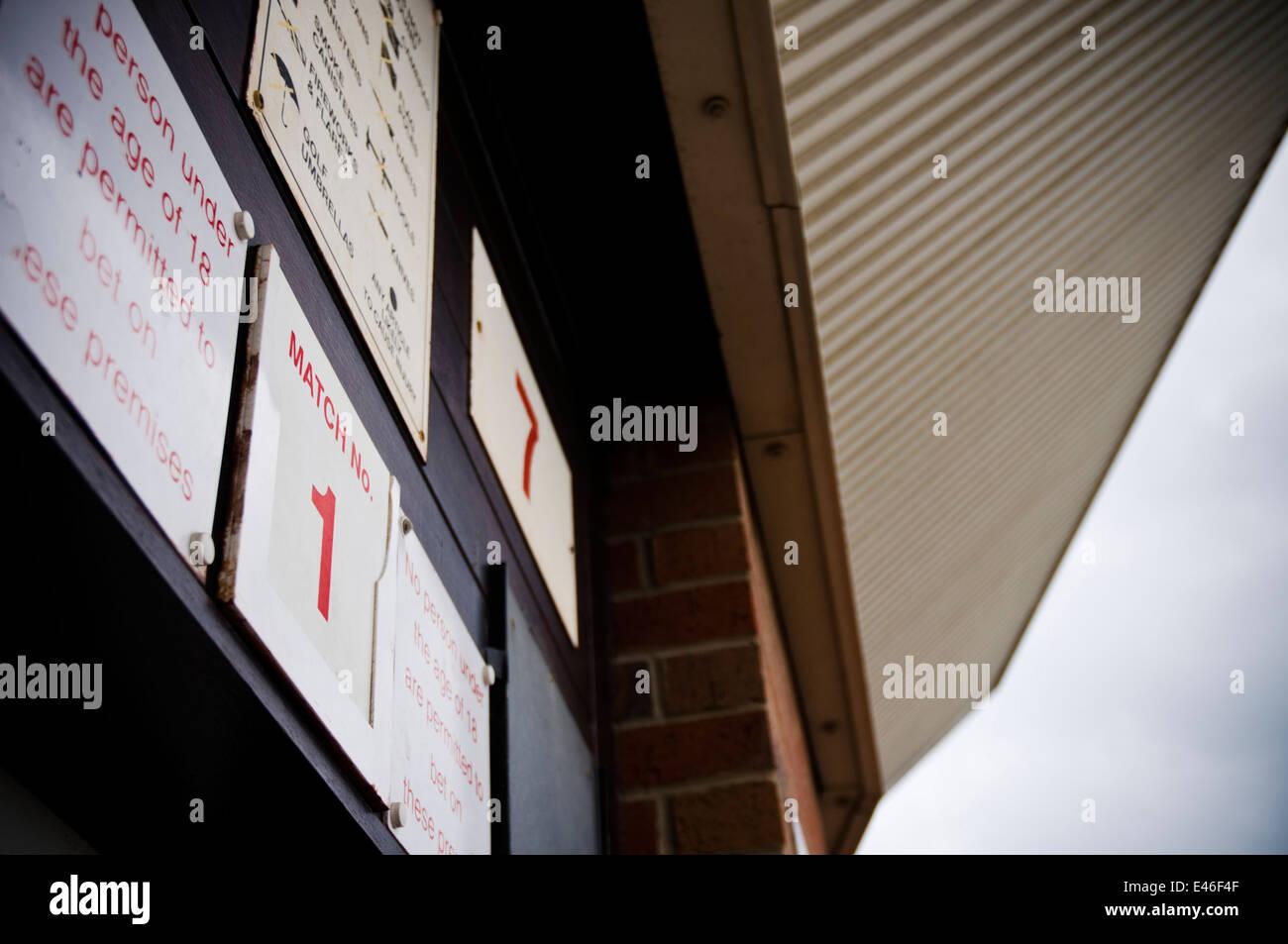 A turnstile on the opening day of the English football season at Sunderland AFC's Stadium of Light - Stock Image