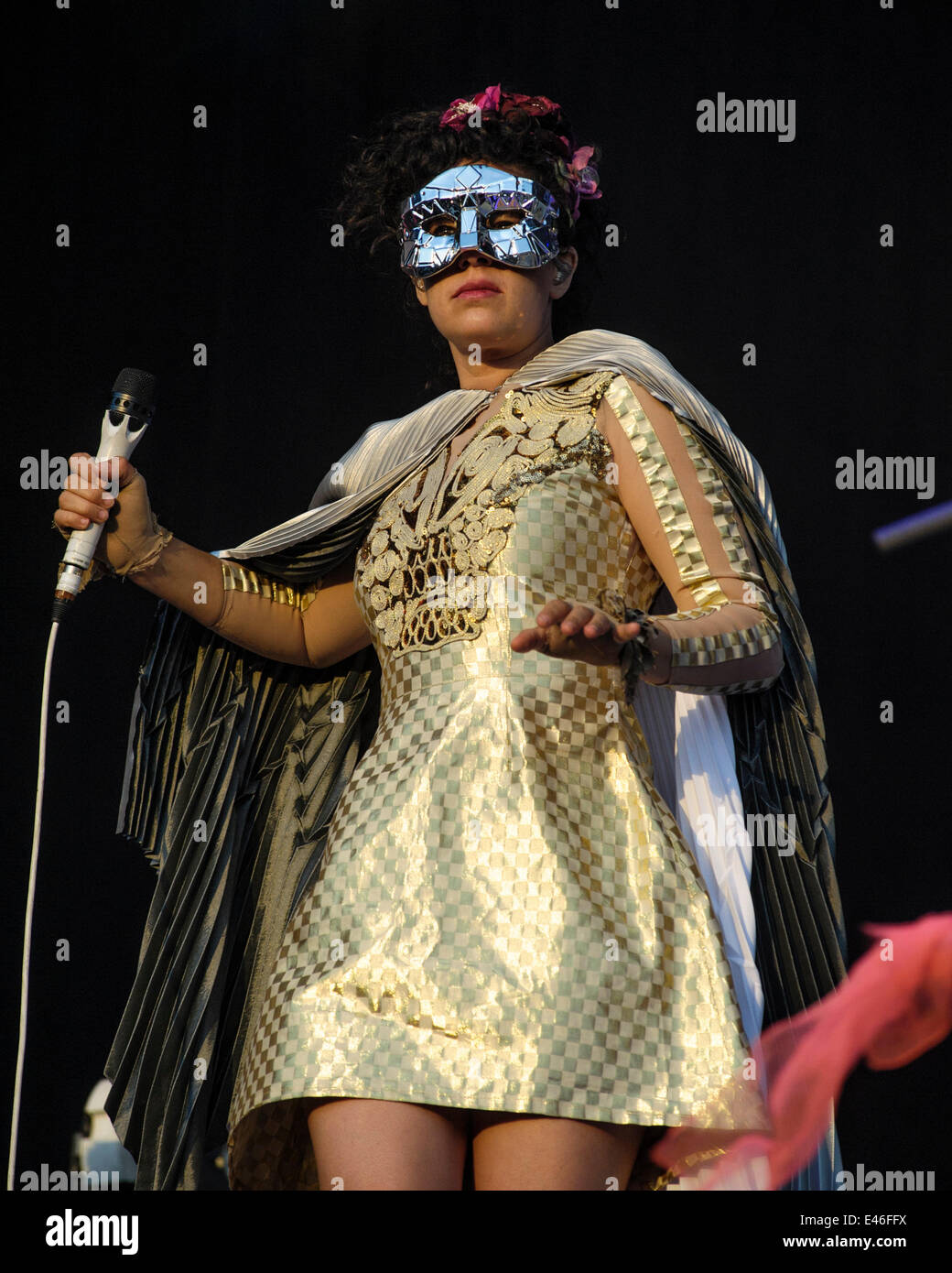 London, UK. 3rd July, 2014. Arcade Fire play British Summertime Hyde Park. Persons Pictured: Régine Chassagne. - Stock Image