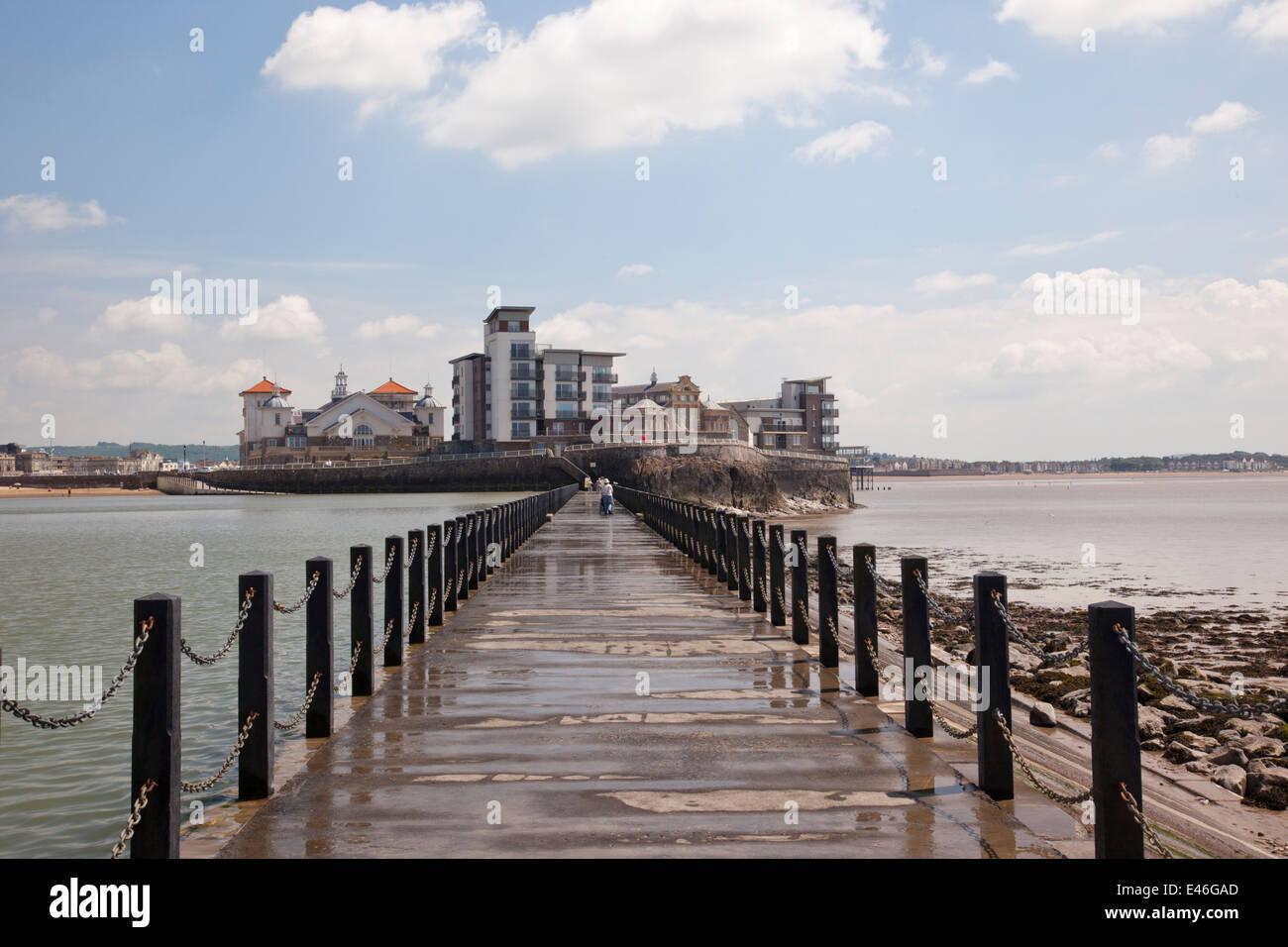 Marine Lake, Weston Super Mare, Somerset. - Stock Image