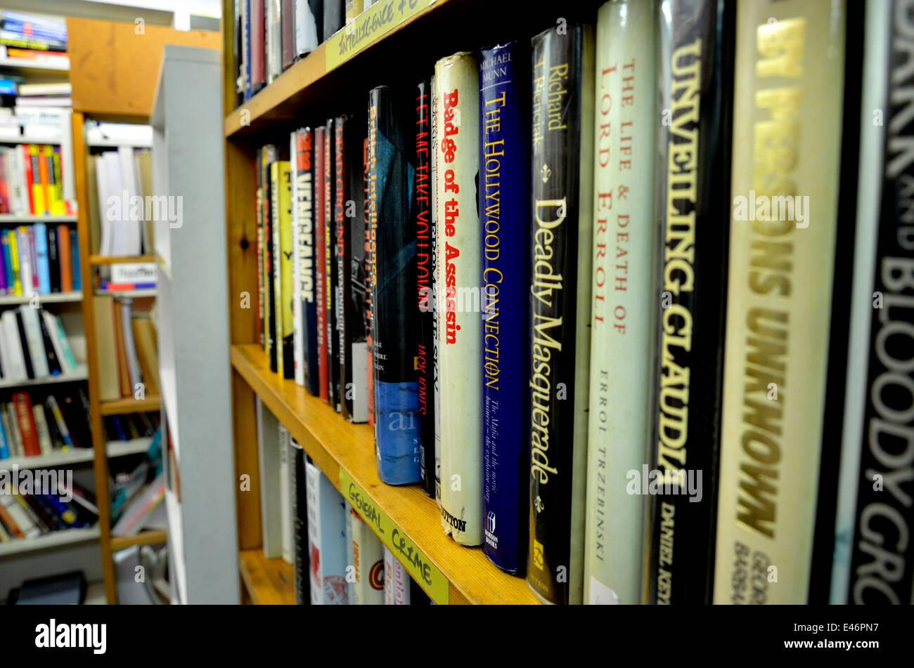 Rochester, Kent, England, UK. Baggins Book Bazaar - the biggest second-hand bookshop in England. Inside - Stock Image