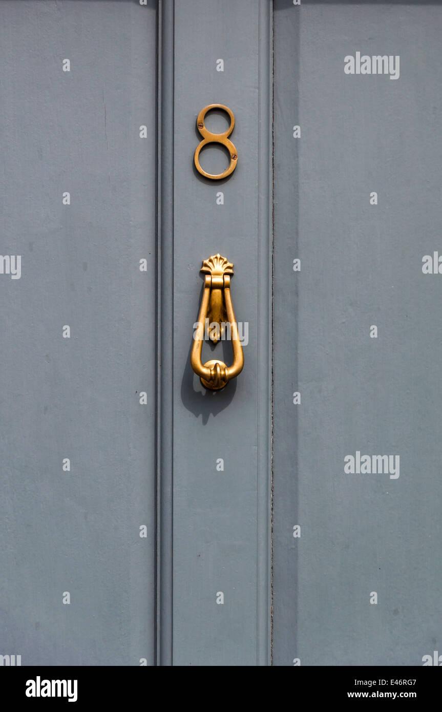Door number 8 close up - Stock Image