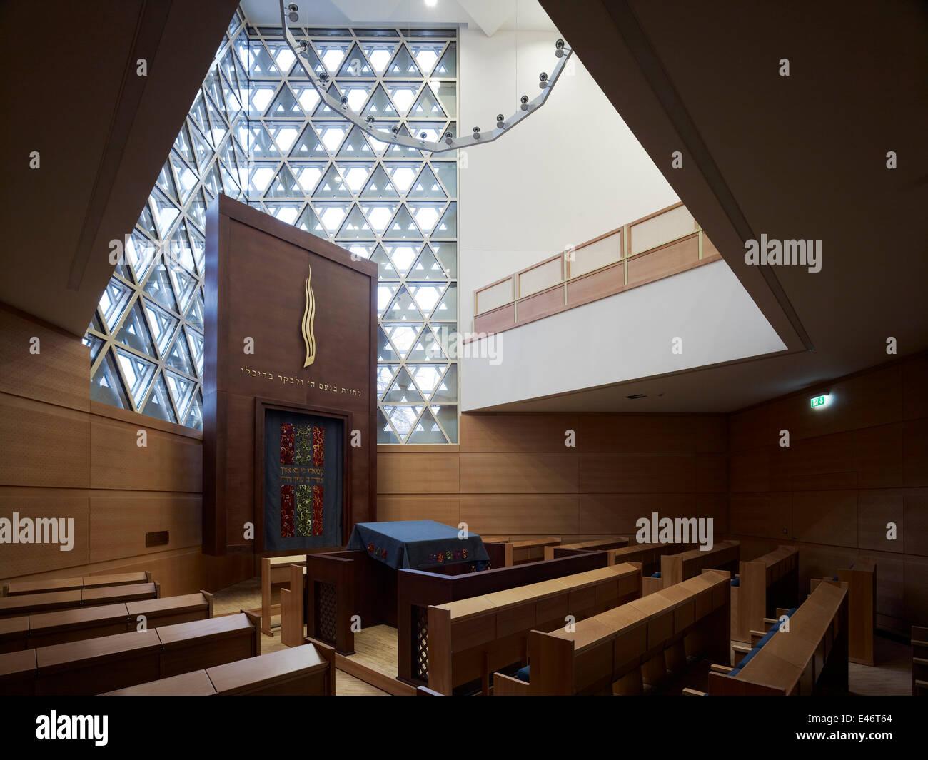 Synagoge am Weinhof, Ulm, Germany. Architect: kister scheithauer gross architects, 2012. - Stock Image
