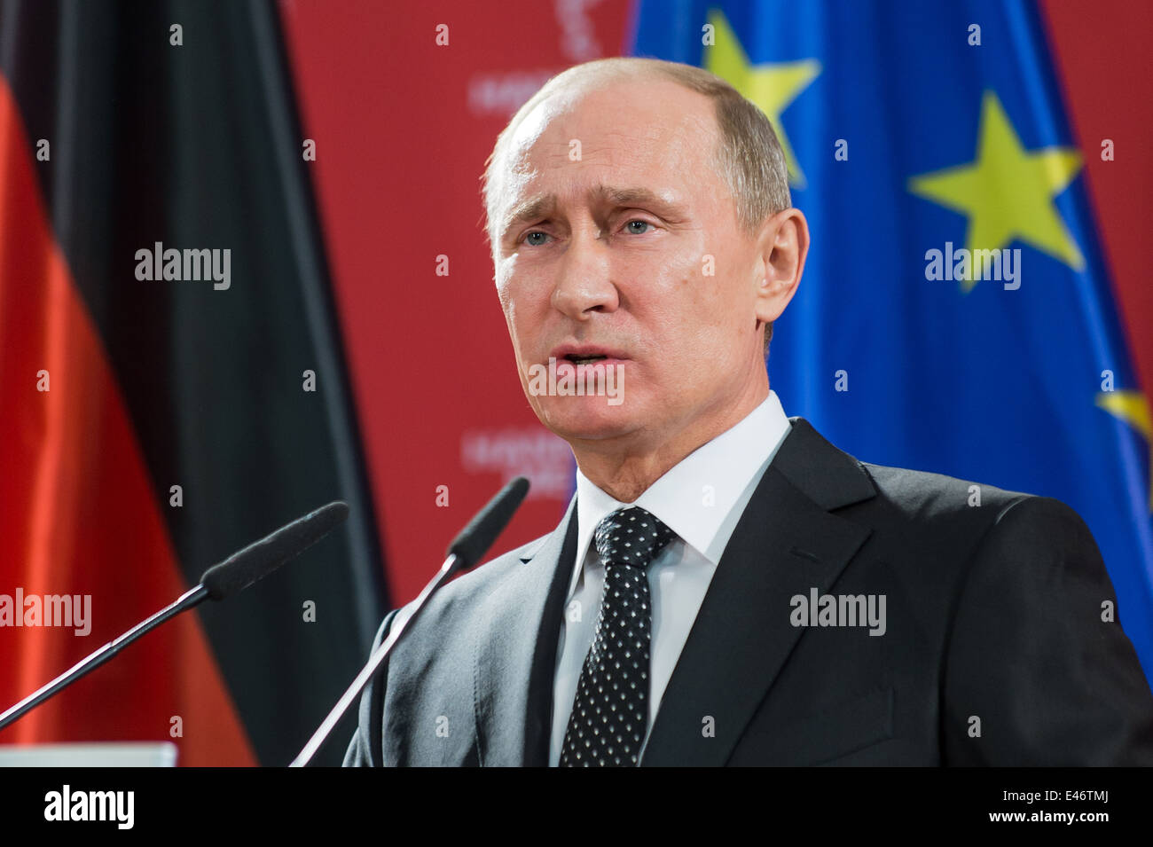 Berlin, Germany, Vladimir Putin, President of the Russian Federation - Stock Image