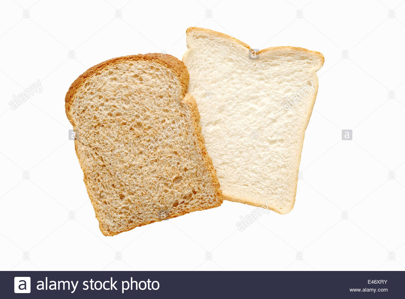 Wholemeal Bread Two Slices Cut Stock Photos Wholemeal