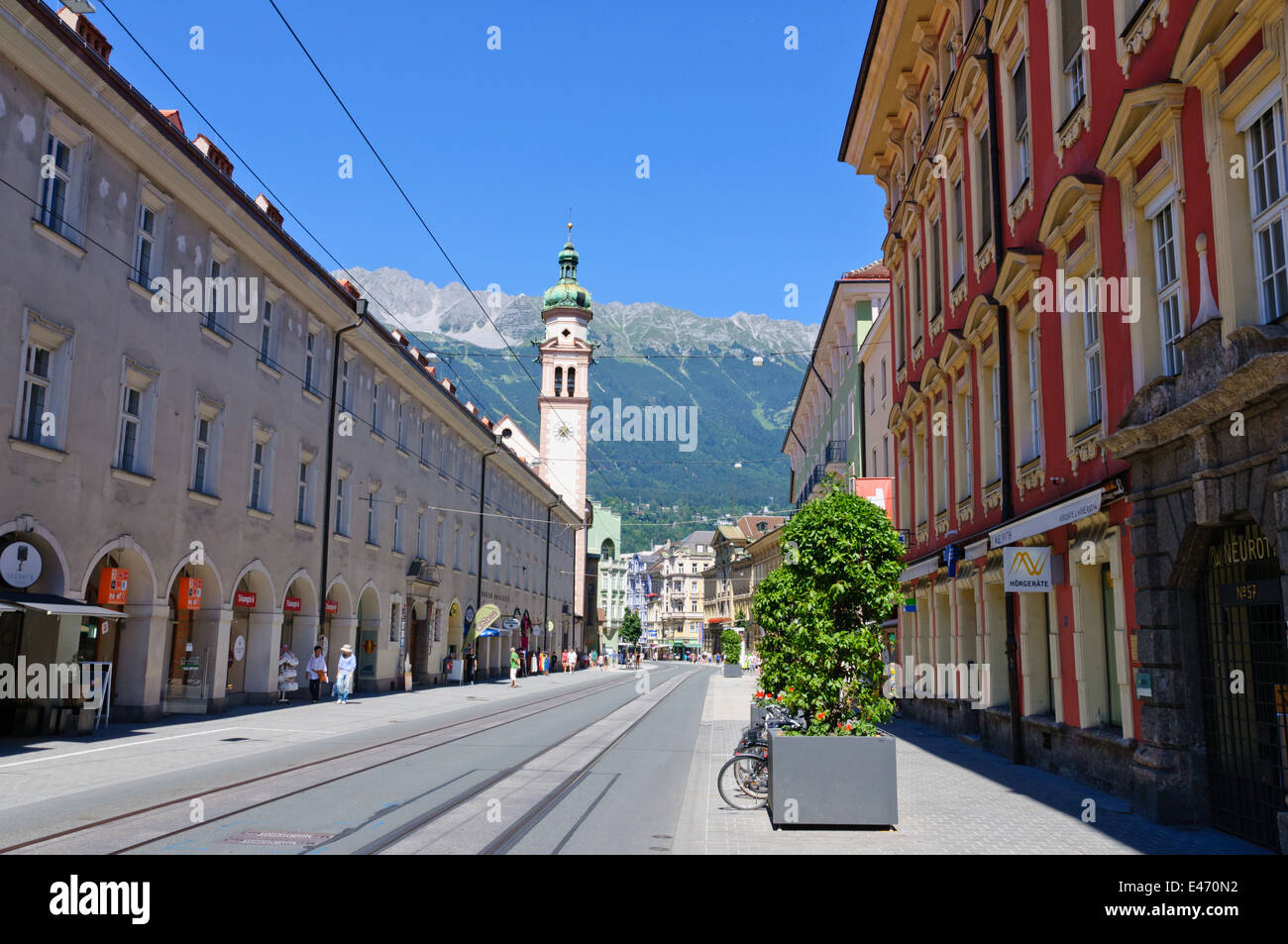 Cityscape of Innsbruck in Austria Stock Photo