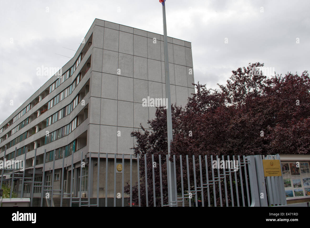 Germany: North Korean Embassy in Berlin. Photo from 21 June 2014. - Stock Image