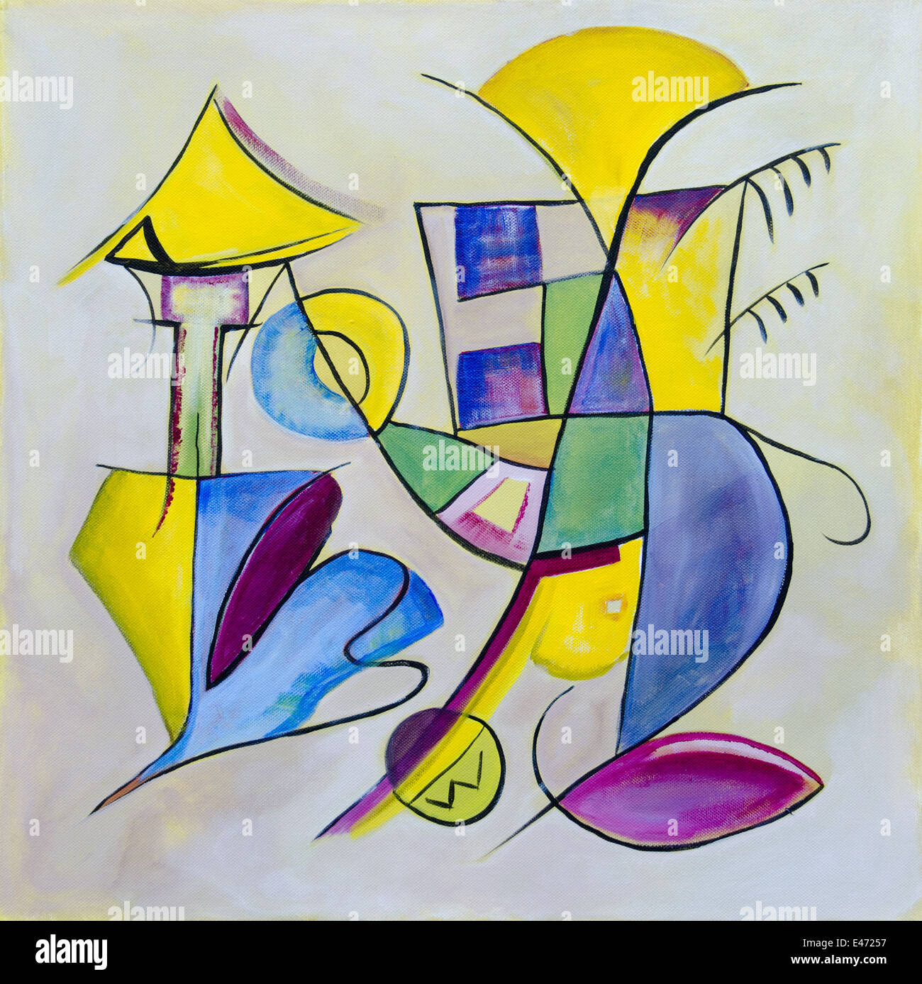 Abstract art, contemporary painting - Stock Image