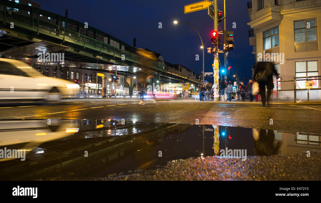 Berlin Germany Schoen Allee Eberswalde Street Stock Photo