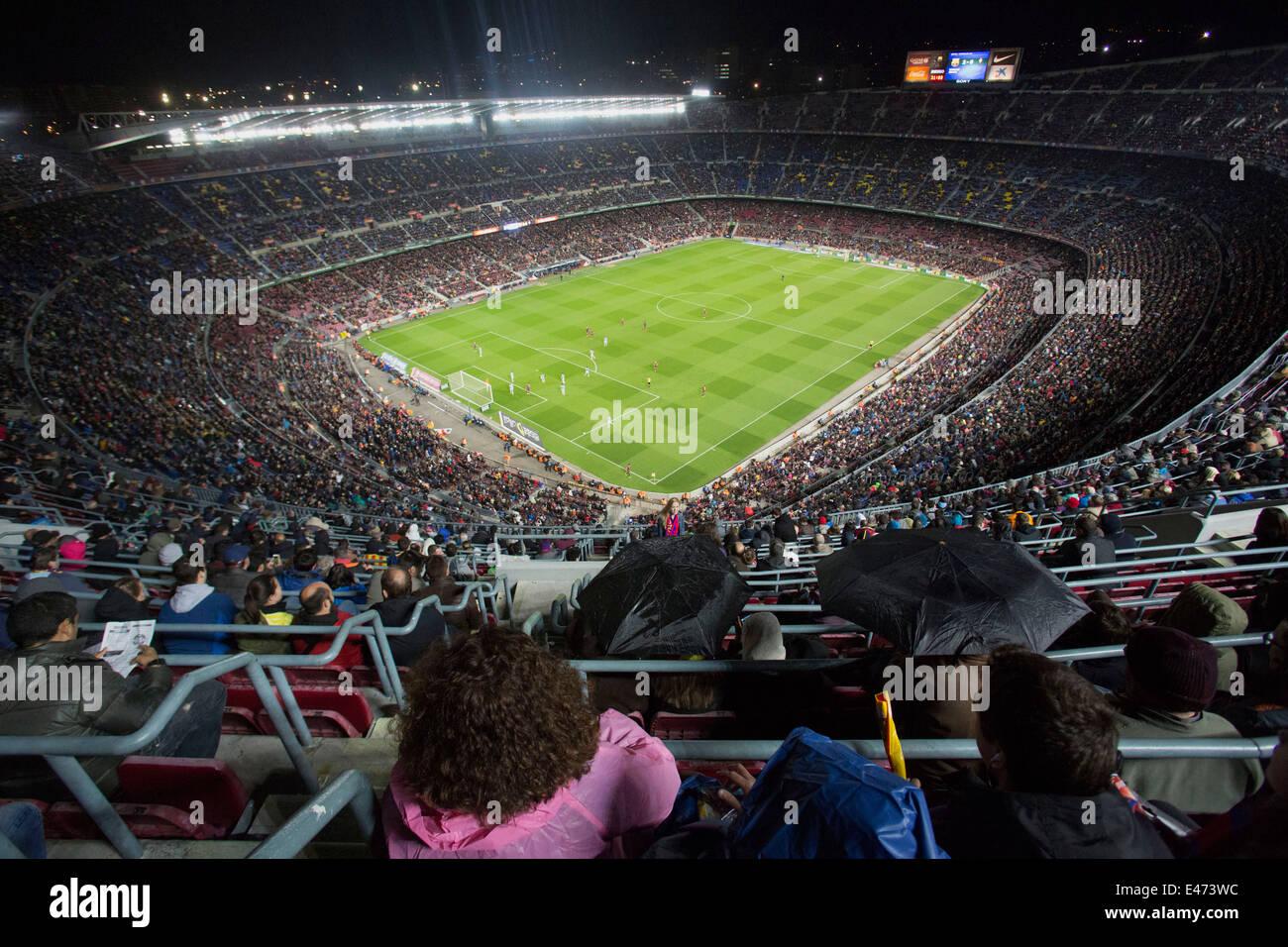 Barcelona soccer team stadium, Nou Camp in Barcelona, Spain - Stock Image