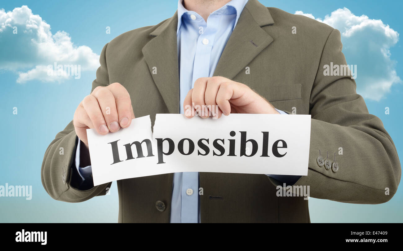 making the impossible possible, business motivation - Stock Image