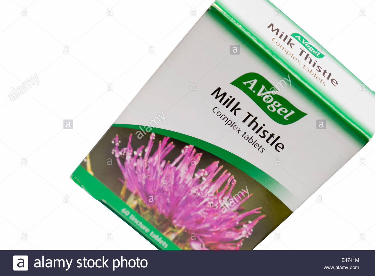 Pack of A Vogel milk thistle tablets - Stock Image