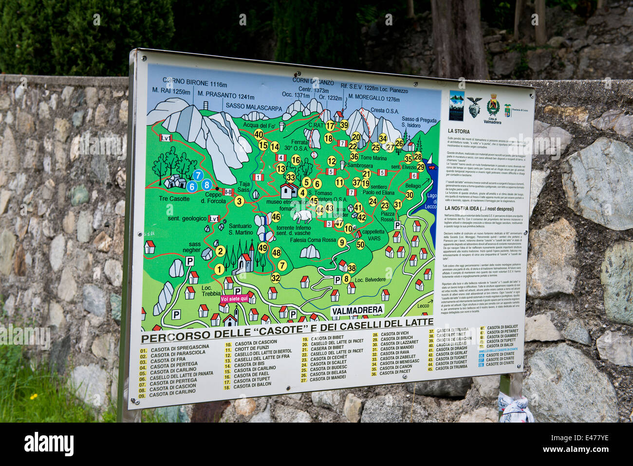 Lecco Province Map Stock Photos & Lecco Province Map Stock Images ...