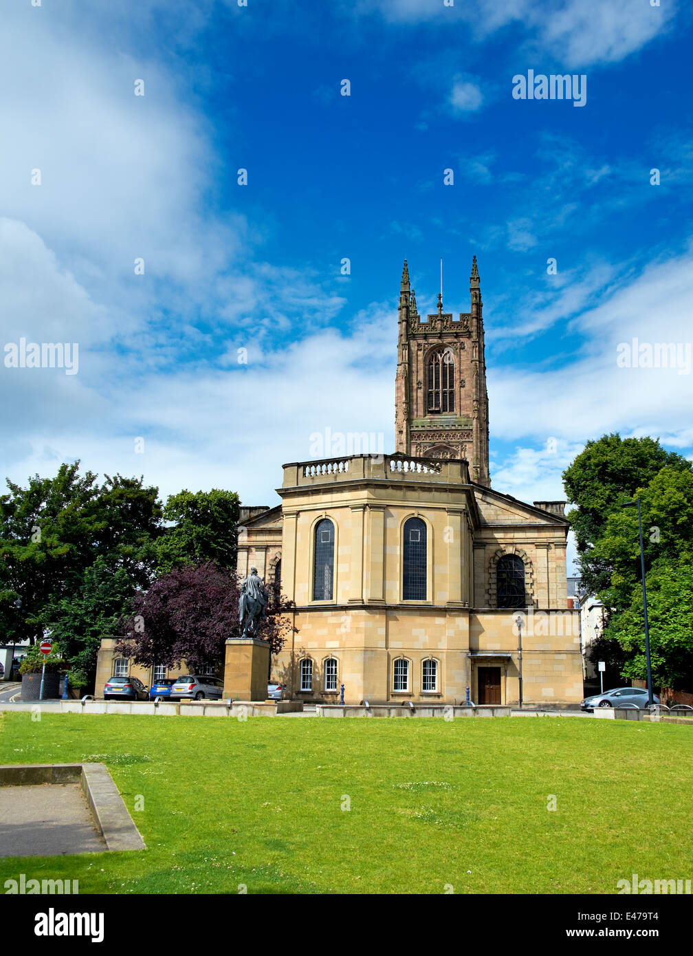 Derby Cathedral church of all saints England UK - Stock Image