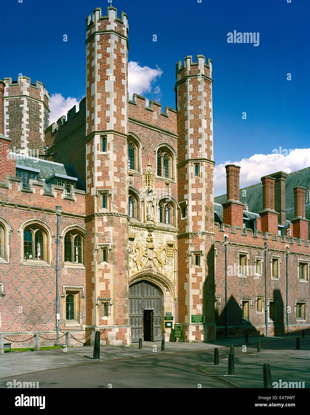 Great Gate of St John's College Cambridge - Stock Image