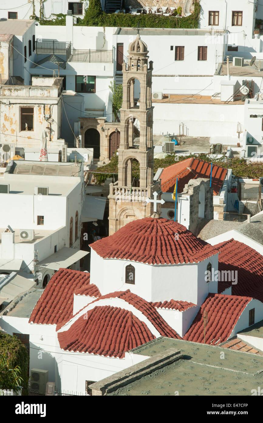 Griechenland, Rhodos, Lindos, Panagia-Kirche - Stock Image