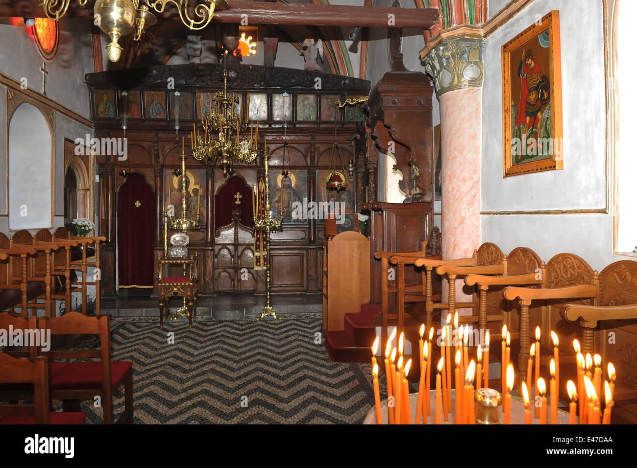 Griechenland, Rhodos, Lardos, Kloster Moni Ipseni - Stock Image
