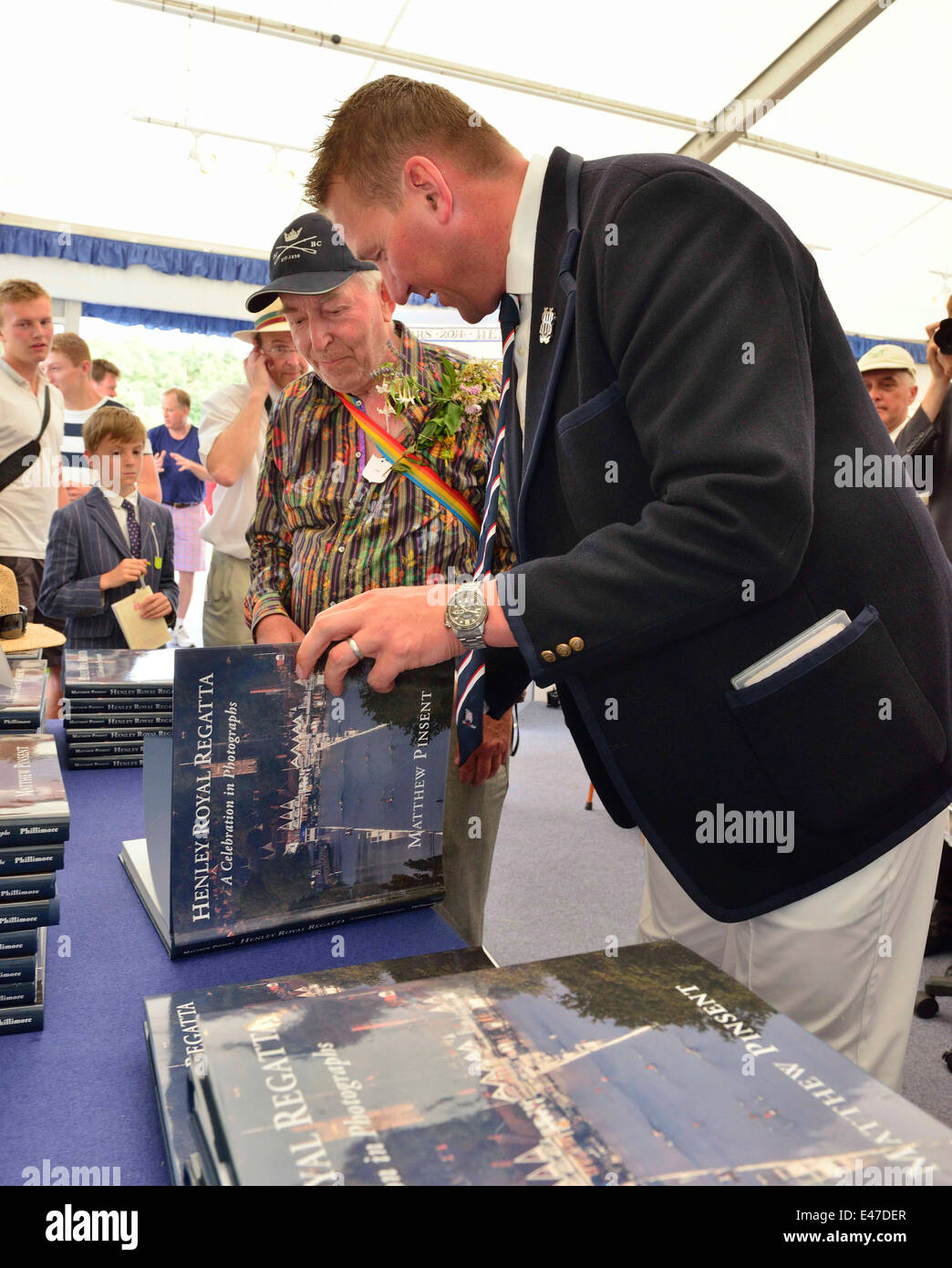 Henley, UK. 04th July, 2014. Sir Matthew Pinsent, CBE . book -signing a stunning book of photographs to celebrate - Stock Image