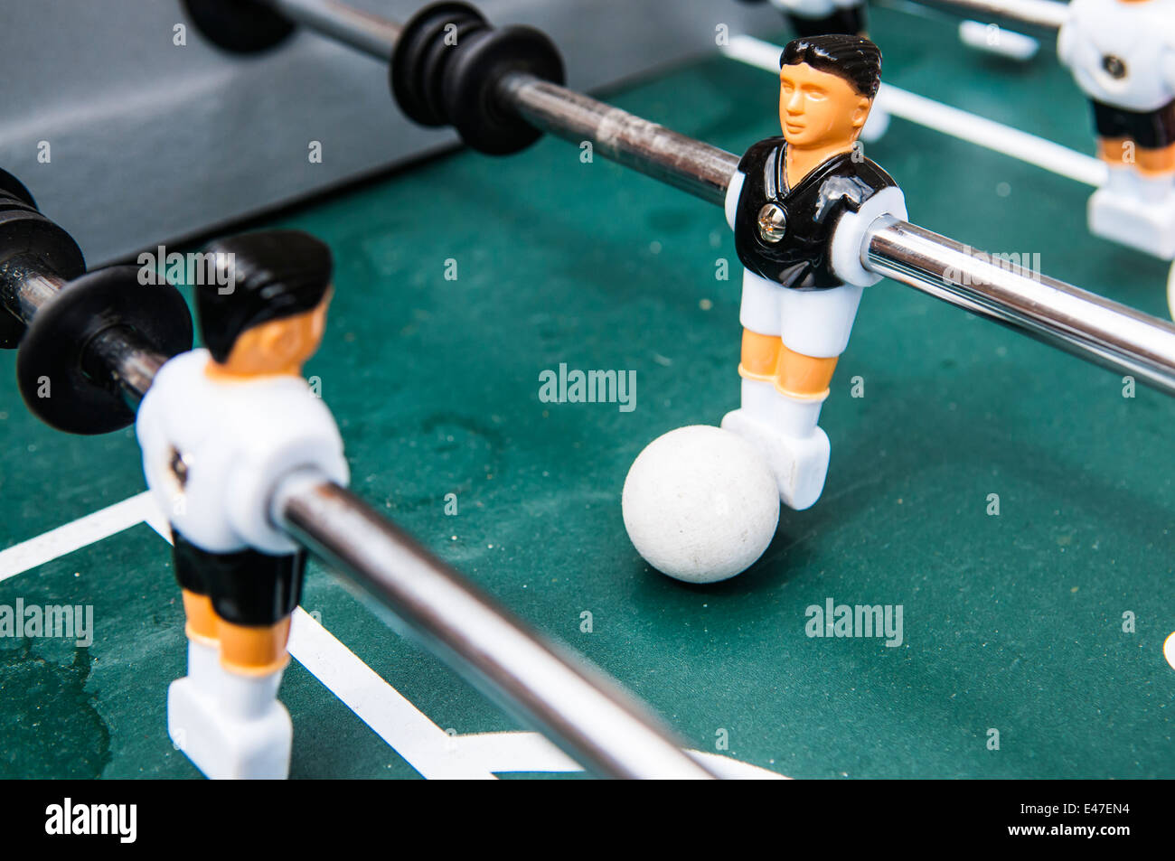 Table Football with ball - Stock Image